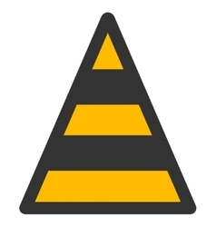 Cone Road Construction Flat Icon vector