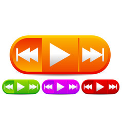 Control buttons for multimedia audio video vector