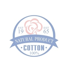 Cotton natural product logo design vector