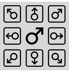 Directions Flat Squared Icon vector