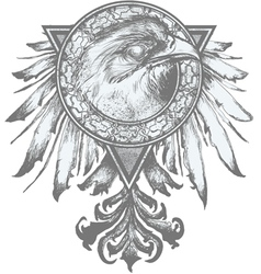 eagle crest vector image