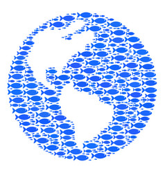 Fish earth abstraction vector