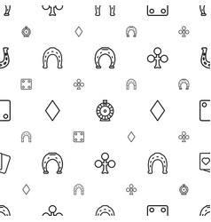 Fortune icons pattern seamless white background vector