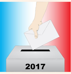 french presidential election vector image