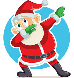 funny dabbing santa claus cartoon vector image