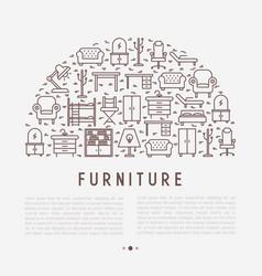 Furniture concept in half circle vector