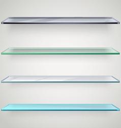 Glass shelves vector