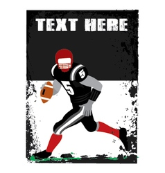 grunge football player vector image
