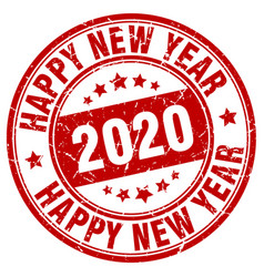 Happy new year 2020 stamp year 2020 vector