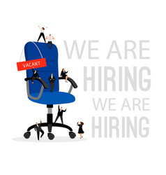 hiring concept with office chair hire vector image