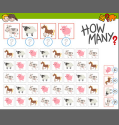 How many farm animals game vector