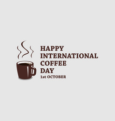international coffee day stock vector image