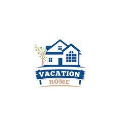 isolated blue color architectural house icon vector image