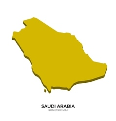 Isometric map of Saudi Arabia detailed vector