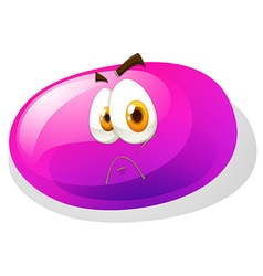 Jelly bean with sad face vector