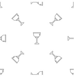 Jewish cup pattern seamless vector