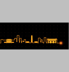 Kansas city light streak skyline vector
