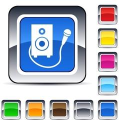 Karaoke square button vector