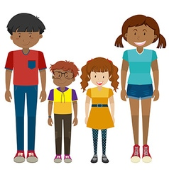 Kids and teenagers standing vector image