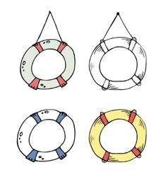 Lifebuoy doodle vector