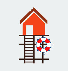 lifeguard stations iconflat design vector image