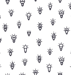 Light bulbs pattern vector
