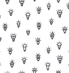 Light bulbs pattern vector image