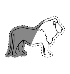lion african animal vector image