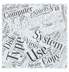 Malware Word Cloud Concept vector