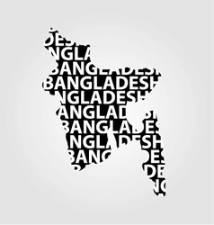 Map of Bangladesh with text inside vector