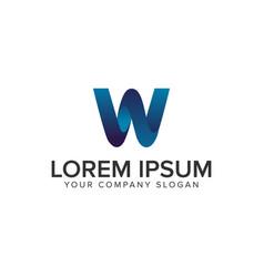 modern letter w 3d logo design concept template vector image