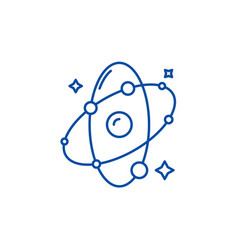 molecule line icon concept molecule flat vector image
