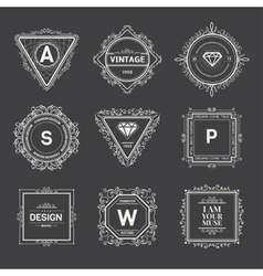 Monogram template vector image