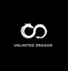 Monogram unlimited dragon abstract logo vector
