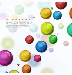 Multicolored balls balloons and pills background vector