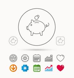 Piggy bank icon money economy sign vector