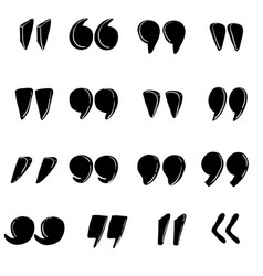 Quotes marks quotation marking speech punctuation vector