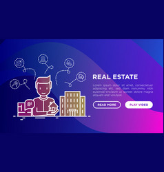 real estate agent sells apartments vector image