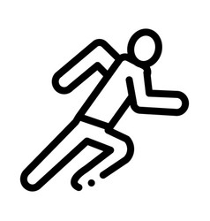 Runner athlete in action icon outline vector
