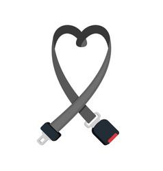 Safety auto seat belt vector