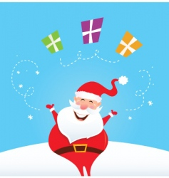 Santa Claus with xmas presents vector image