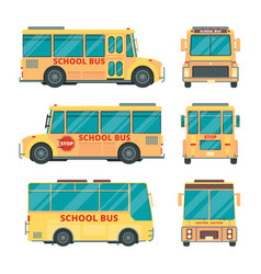 school bus city yellow vehicle for kids daily vector image