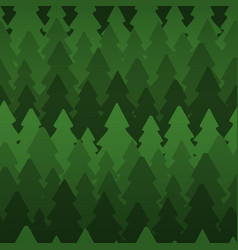 seamless pattern with dense dark fir trees vector image