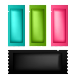 Set of colorful packaging bar for product vector image