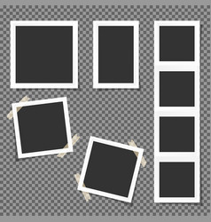 Set polaroid square frames isolated on vector