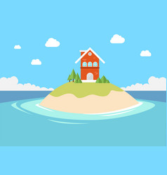 small private house in small island vector image