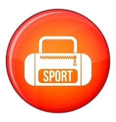 Sports bag icon flat style vector