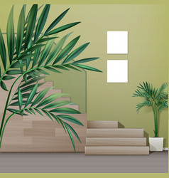 staircase in interior vector image