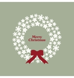 Stock christmas wreath with snowflakes vector image