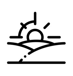 sunset icon outline vector image